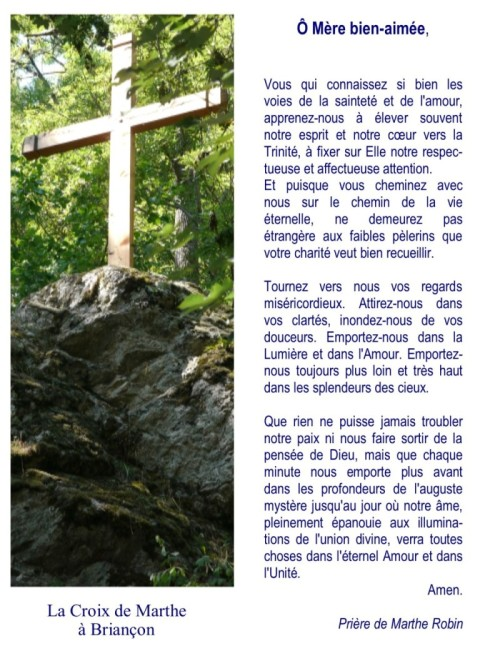 Prière de Marthe