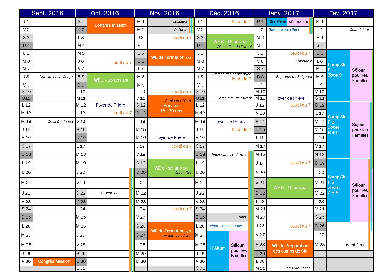 AGENDA 2016-2017 1-2